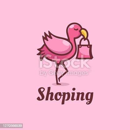 istock Vector Illustration Shop Simple Mascot Style. 1270566539