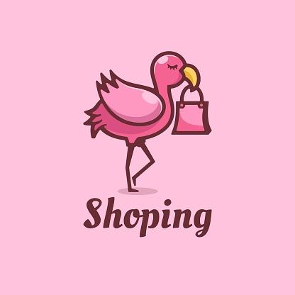 Vector Illustration Shop Simple Mascot Style.