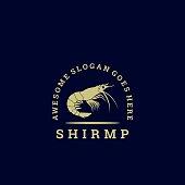 Vector Illustration Shrimp Gradient Colorful Style.