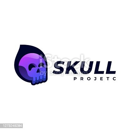istock Vector Illustration Skull Gradient Colorful Style. 1273245284