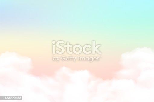 Vector illustration sky background and pastel color.