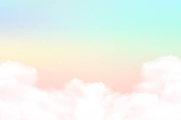 ilustracja wektorowa niebo tło i pastelowy kolor. - pastelowy kolor stock illustrations