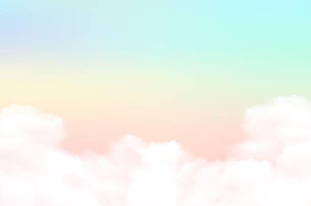 Vector illustration sky background and pastel color. Vector illustration sky background and pastel color. pastel colored stock illustrations