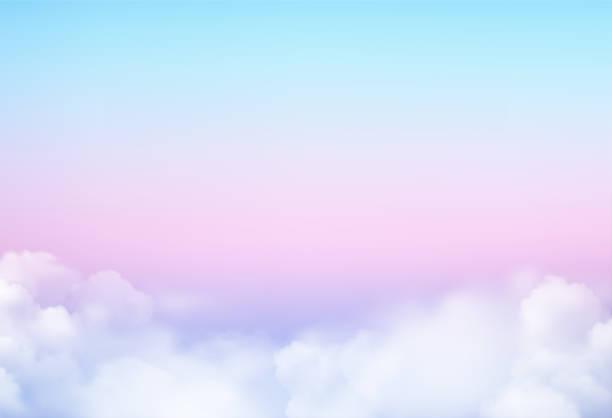illustrations, cliparts, dessins animés et icônes de fond de ciel d'illustration de vecteur et couleur pastel. - sky