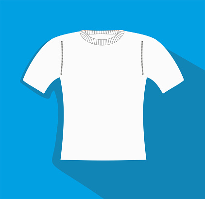 Vector illustration, Slimfit T-shirt, clothes related, sweather vector flat Icon. Symbol.