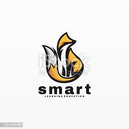 istock Vector Illustration Smart Mascot Cartoon Style. 1224734765