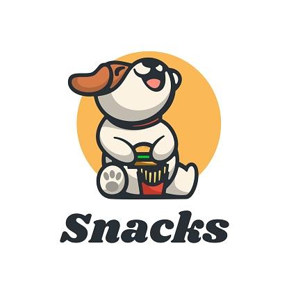 Vector Illustration Snacks Simple Mascot Style.