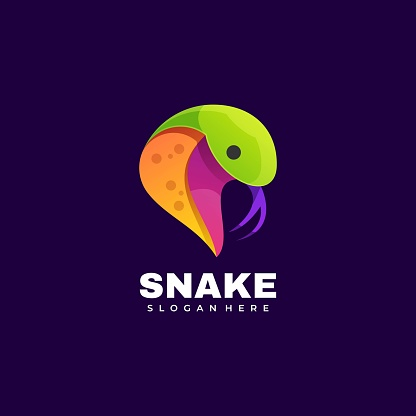 Vector Illustration Snake Gradient Colorful Style.