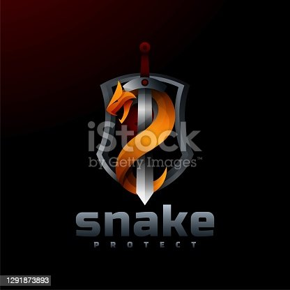 istock Vector Illustration Snake Gradient Colorful Style. 1291873893