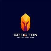 Vector Illustration Spartan Colorful Style.