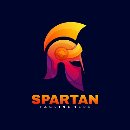 Vector Illustration Spartan Gradient Colorful Style.