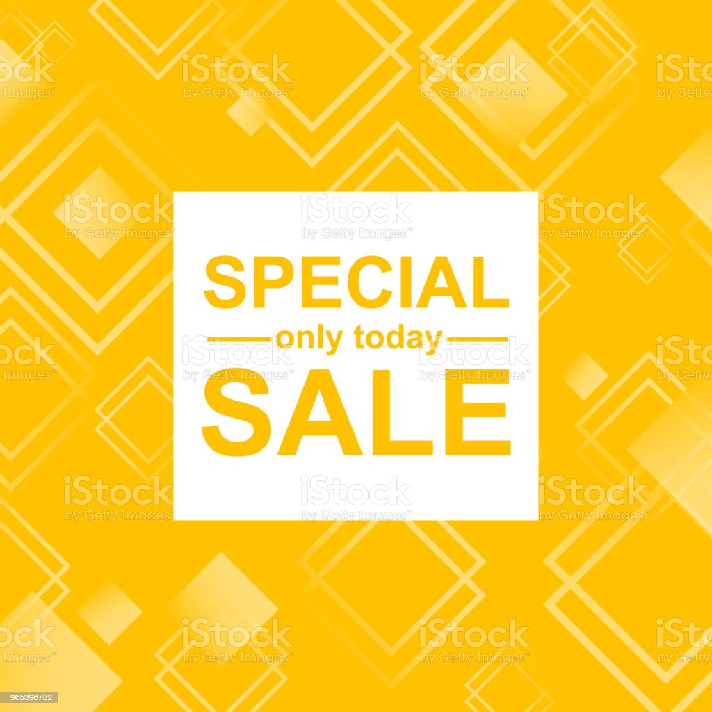 Vector Illustration. Special sale card with abstract background with rhombus/ Pattern design for banner, poster, flyer, card for special yellow offer royalty-free vector illustration special sale card with abstract background with rhombus pattern design for banner poster flyer card for special yellow offer stock vector art & more images of abstract