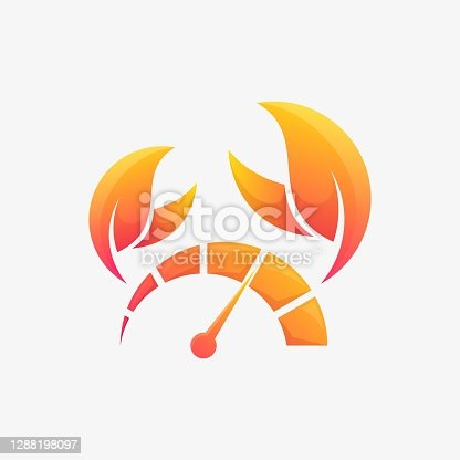 Vector Logo Illustration Speed Crab Gradient Colorful Style.