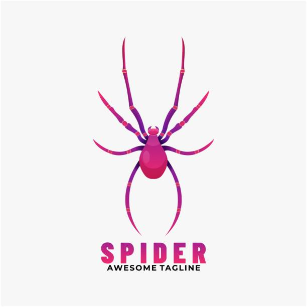 Vector Illustration Spider Gradient Colorful Style. Vector Illustration Spider Gradient Colorful Style. arachnid stock illustrations