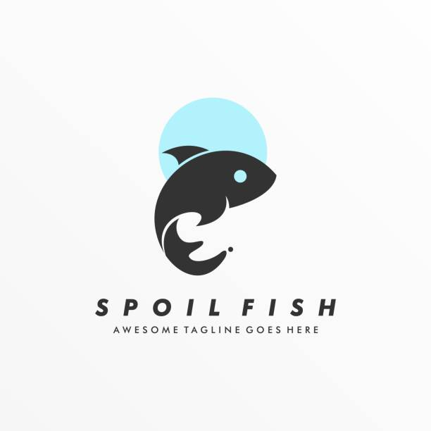 Vector Illustration Spoiled Fish Silhouette Style. Vector Illustration Spoiled Fish Silhouette Style. abstract clipart stock illustrations