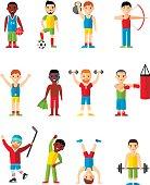 Vector illustration sport healthy leisure man.