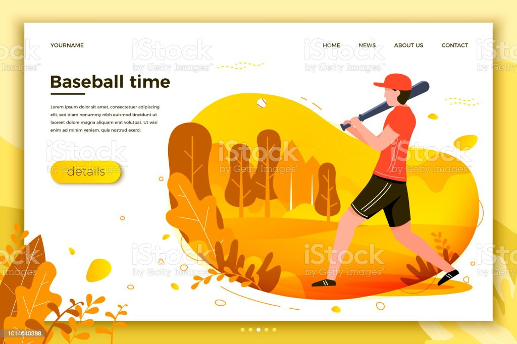 Vector illustration - sporty man playing baseball vector art illustration