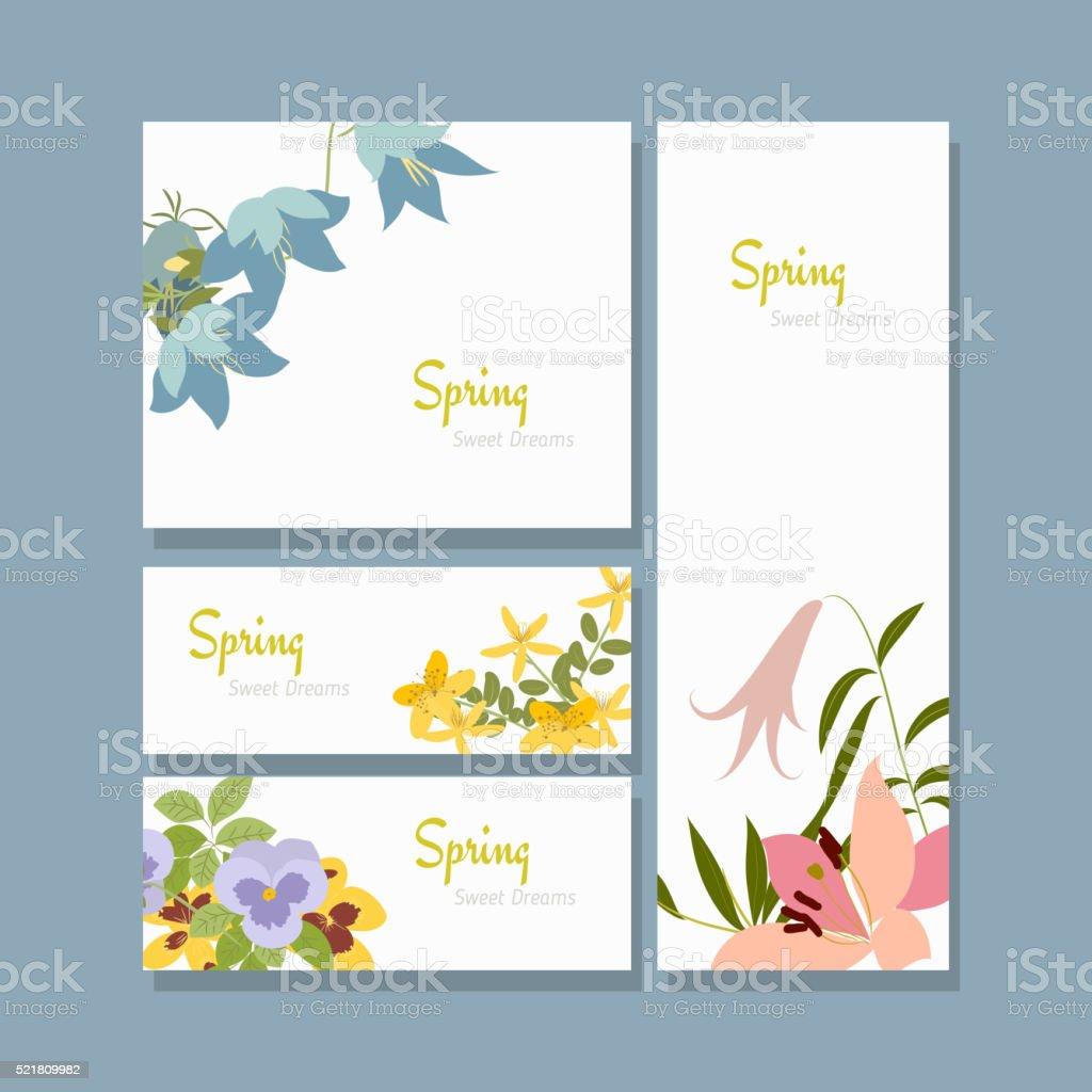 Vector illustration spring flower