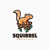 istock Vector Illustration Squirrel Simple Mascot Style. 1330142524