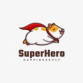 istock Vector Illustration Super Hero Simple Mascot Style. 1271464795