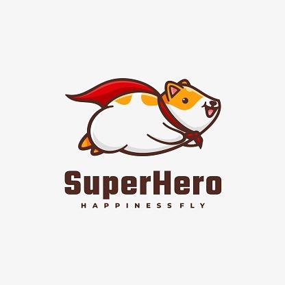 Vector Illustration Super Hero Simple Mascot Style.