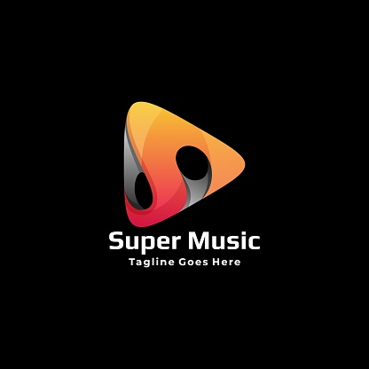 Vector Illustration Super Music Gradient Colorful Style.