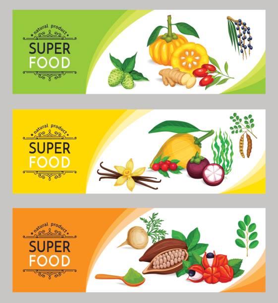 illustrations, cliparts, dessins animés et icônes de modèle de vector illustration super bannière - antioxydant