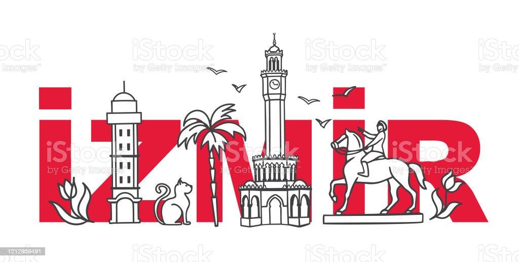 Vector Illustration Symbols Of Izmir Turkey Stock Illustration Download Image Now Istock