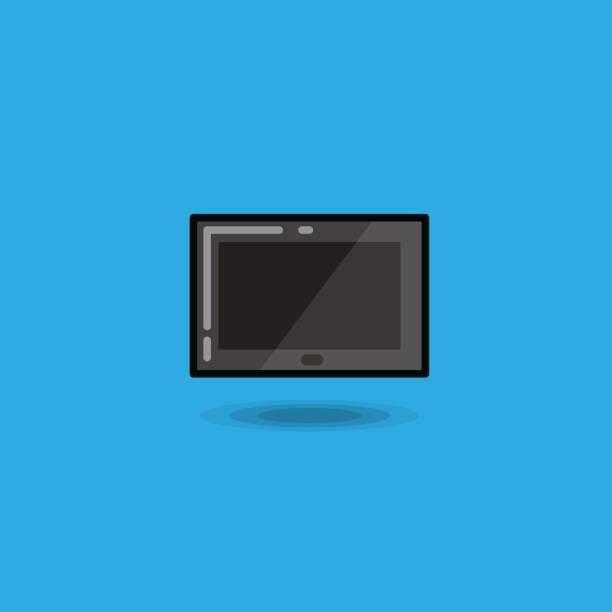 vector illustration tablet computer pc, digital tablet ipad icon isolated - ipad stock illustrations
