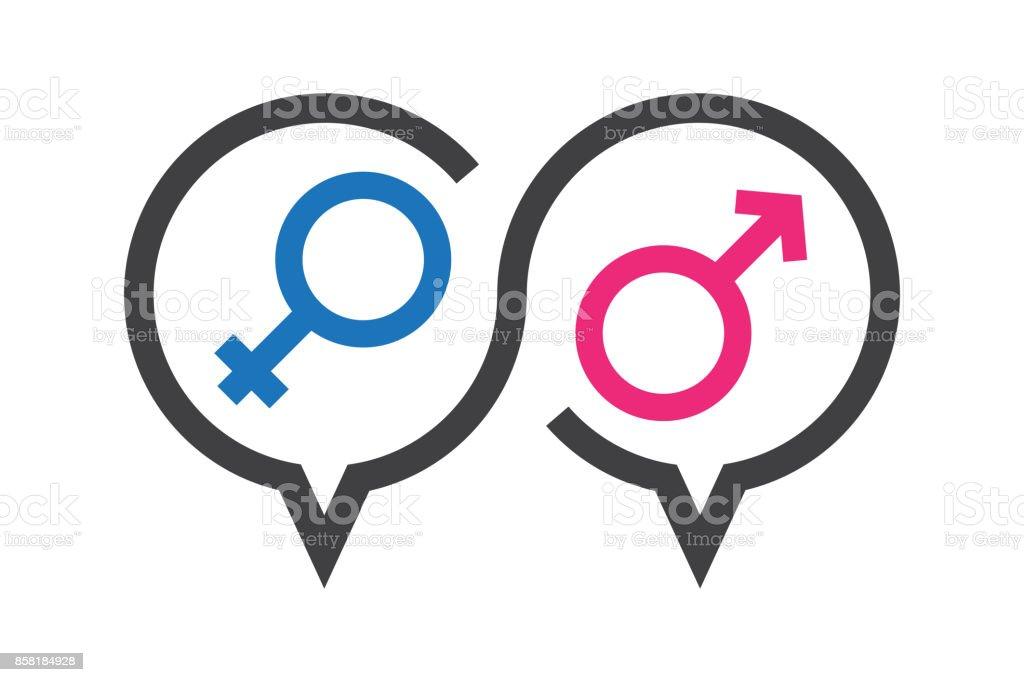 Vektorillustration Symbol über Sex In Der Diskussion Wissen über ...