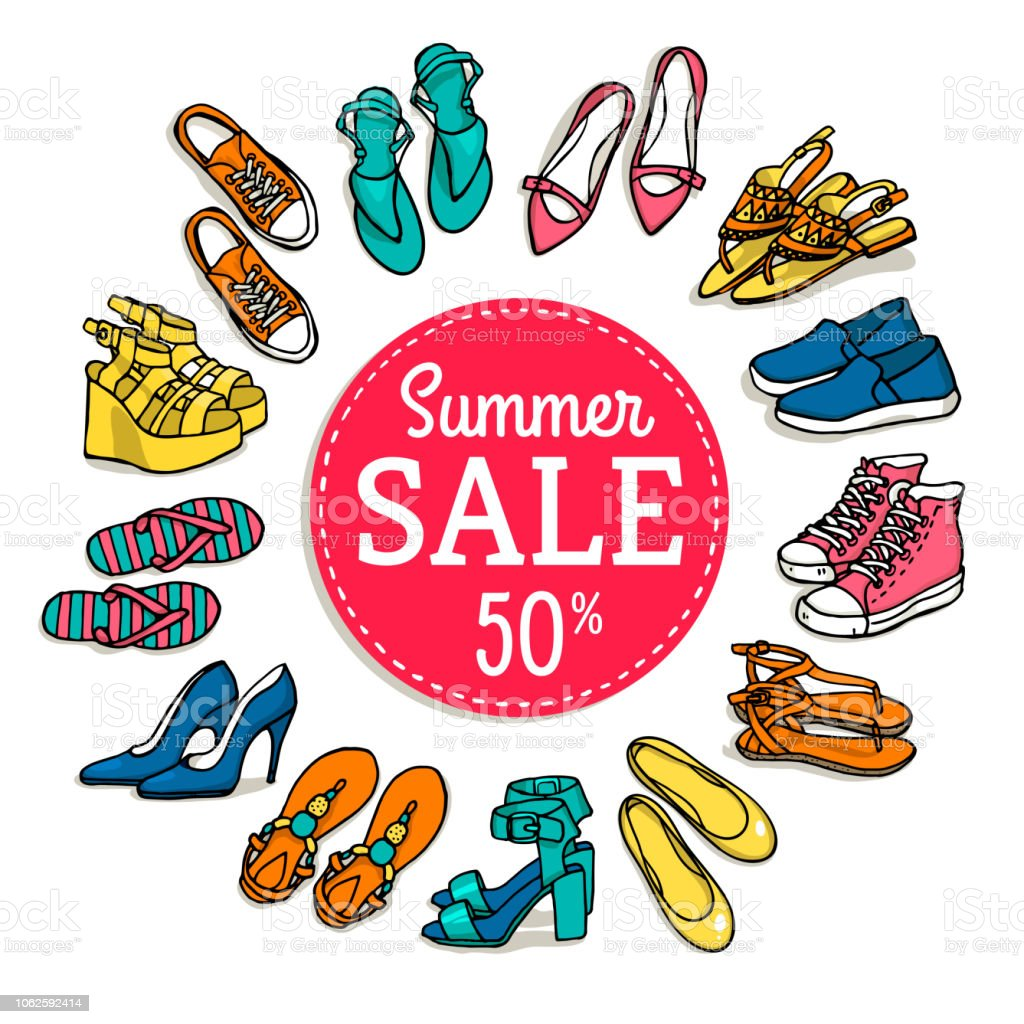 Created vector illustrations of shoe templates for use by