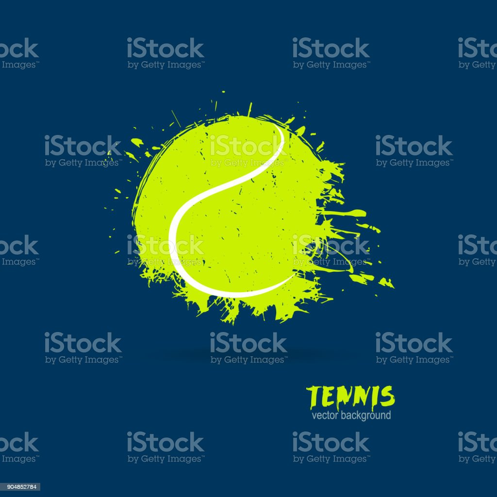 Vektor-Illustration-Tennisball. Print Design für T-shirts. – Vektorgrafik