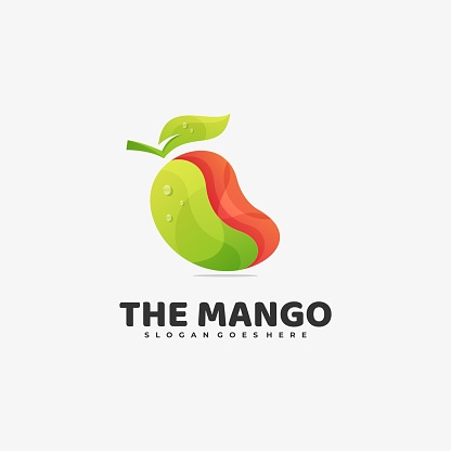 Vector Illustration The Mango Gradient Colorful Style.