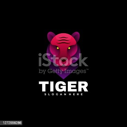 istock Vector Illustration Tiger Gradient Colorful Style. 1272556286