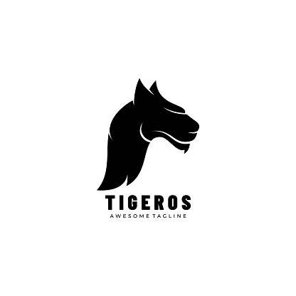 Vector Illustration Tiger Silhouette Style.
