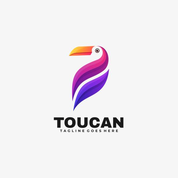 Vector Illustration Toucan Gradient Colorful Style. Vector Illustration Toucan Gradient Colorful Style. exotic animals stock illustrations