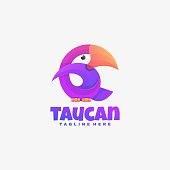 istock Vector Illustration Toucan Gradient Colorful Style. 1284659230