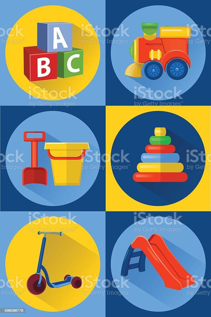 vector illustration toys for children Lizenzfreies vector illustration toys for children stock vektor art und mehr bilder von alphabet