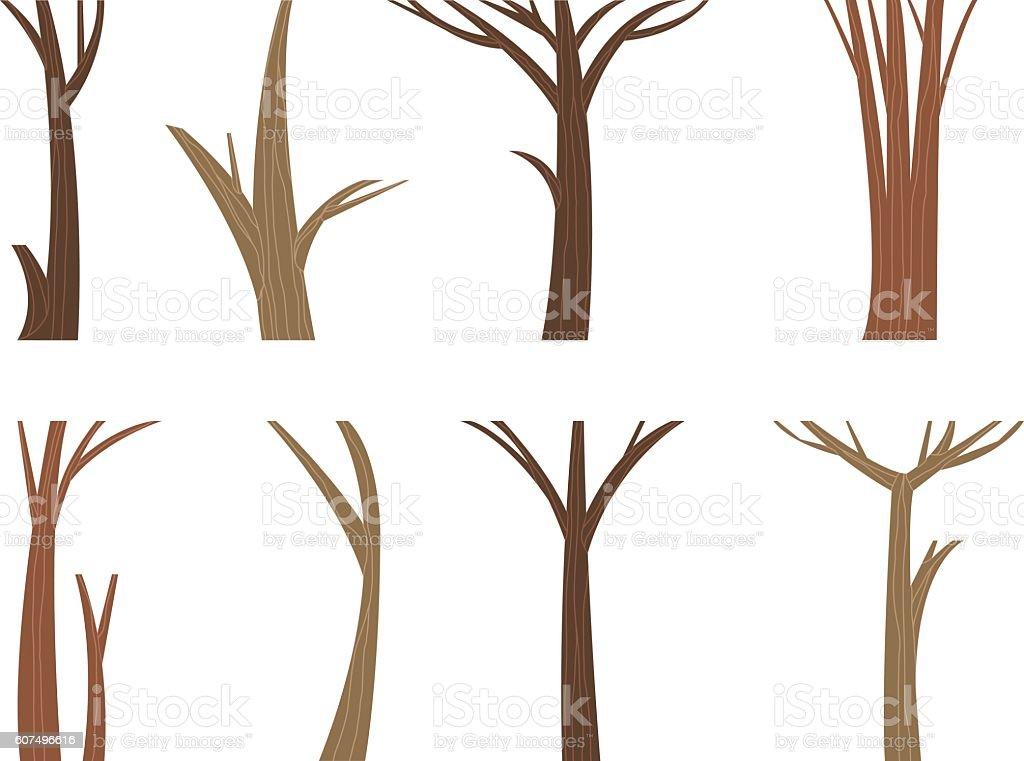 Vector Illustration Tree: Vector Illustration Tree Trunk Stock Vector Art & More