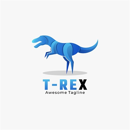 Vector Illustration T-Rex Gradient Colorful Style.