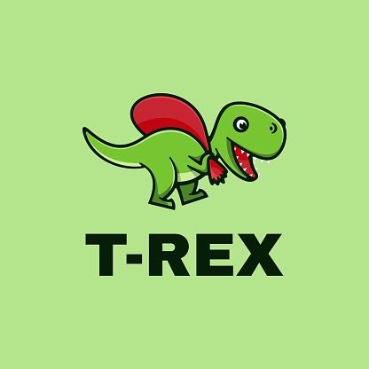 Vector Illustration T-Rex Simple Mascot Style.