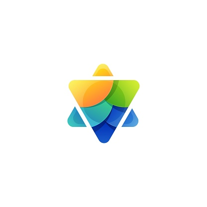 Vector Illustration Triangle Gradient Colorful Style.
