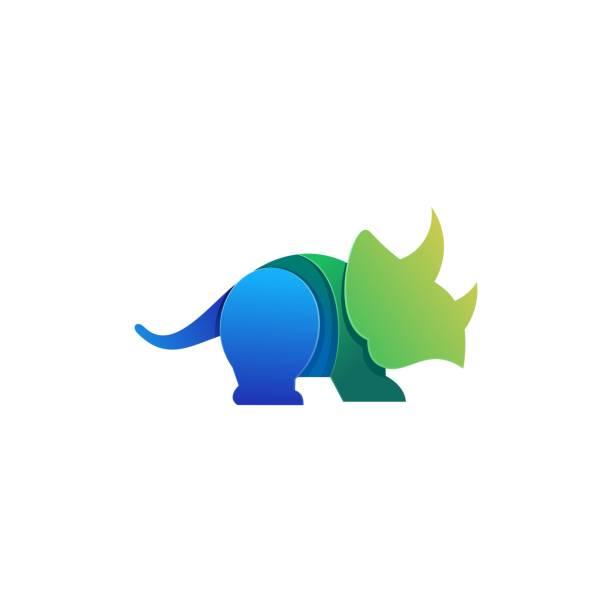 Vector Illustration Triceratops Gradient colorful. Vector Illustration Triceratops Gradient colorful. ancient civilization stock illustrations