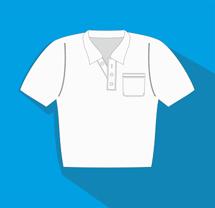 Vector illustration, T-shirt, Clothes related, sweather vector flat Icon. Symbol.