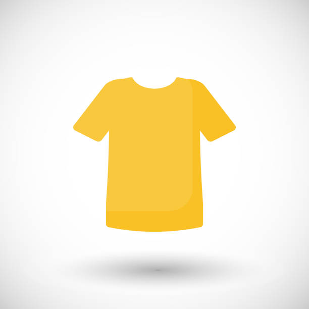 stockillustraties, clipart, cartoons en iconen met vector illustratie t-shirt flat pictogram - t shirt