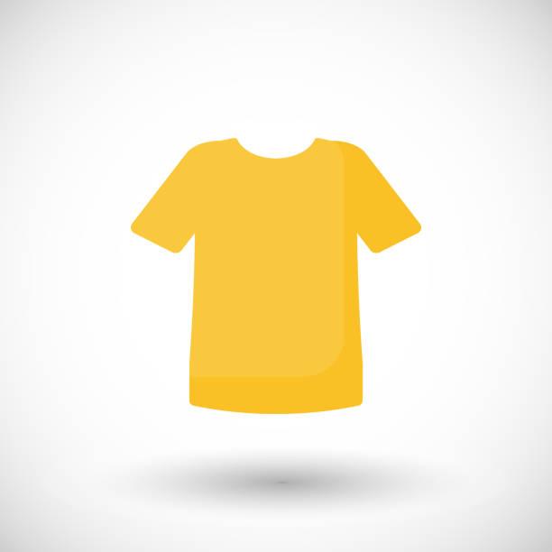 Vector illustration t-shirt flat icon Vector illustration t-shirt flat icon Graphic element for clothing or fashion company. Apparel symbol t shirt stock illustrations