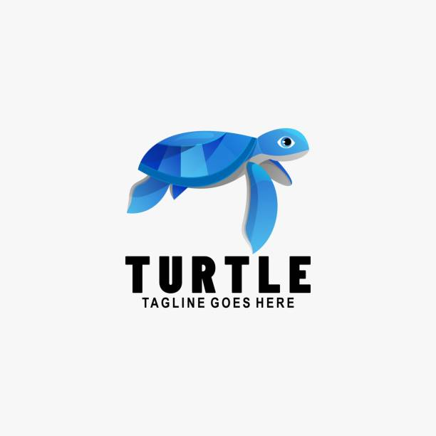 Vector Illustration Turtle Gradient Colorful Style. Vector Illustration Turtle Gradient Colorful Style. reptiles stock illustrations