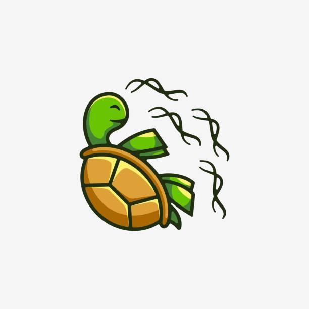 Vector Illustration Turtle Simple Mascot Style. Vector Illustration Turtle Simple Mascot Style. amphibians stock illustrations