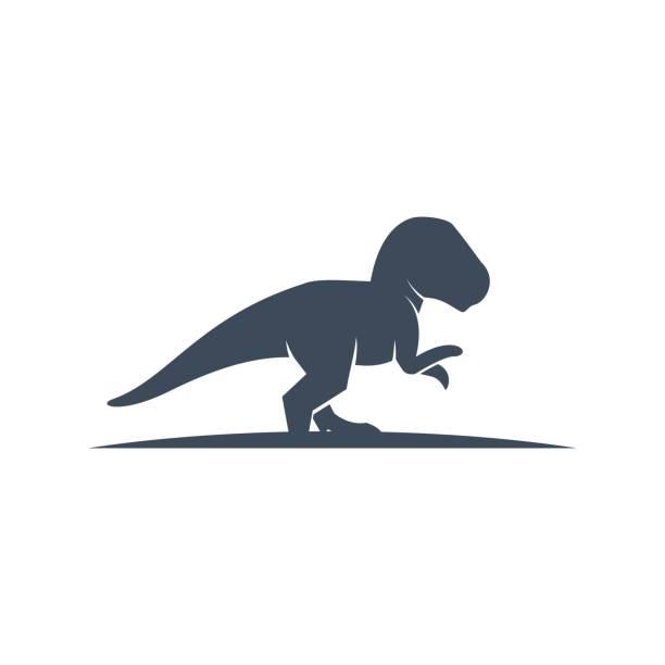 Vector Illustration Tyrannosaurus Silhouette Style. Vector Illustration Tyrannosaurus Silhouette Style. reptiles stock illustrations