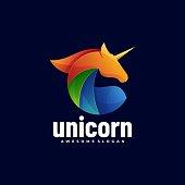 istock Vector Illustration Unicorn Gradient Colorful Style. 1265859910